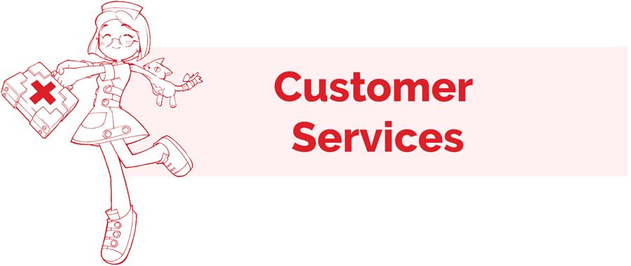 Customer Service information page header
