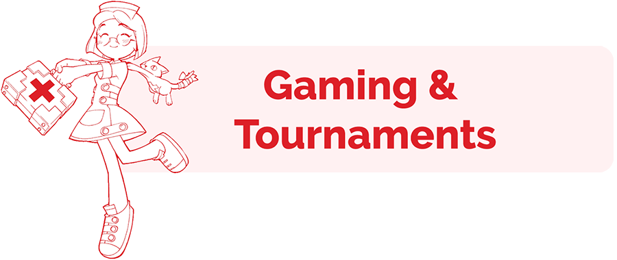 Gaming and Tournaments information page header