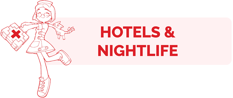 Hotels and Nightlife information page header