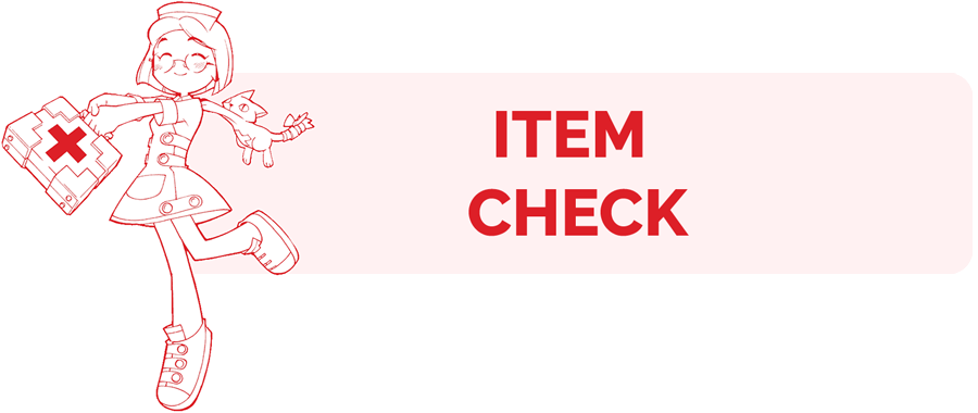 Item Check information page header