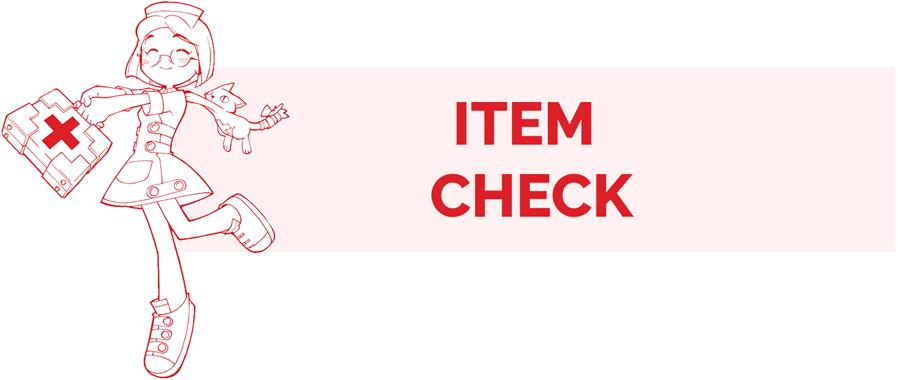 Item Check information page header