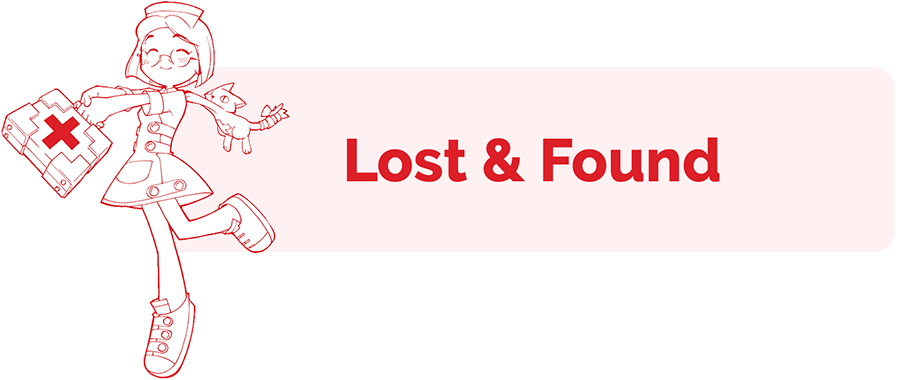 Lost and Found information page header