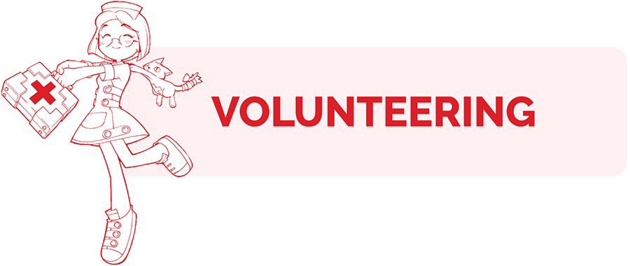 Volunteering information page header